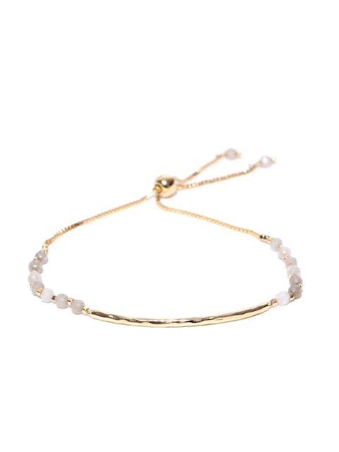 Accessorize Gold-Toned & Off-White Gold-Plated Contemporary Bracelet