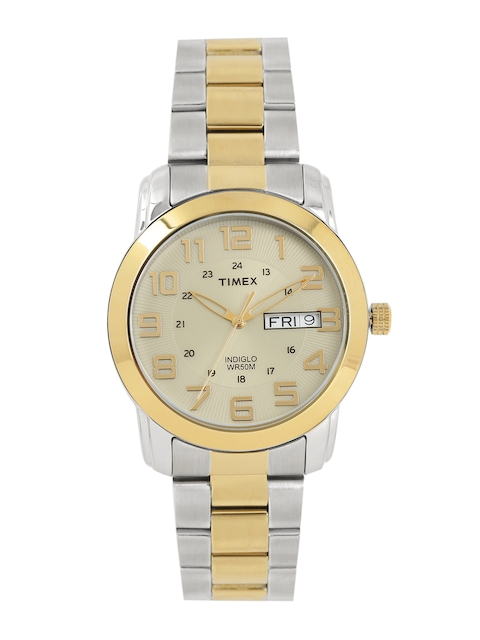 Timex Men Gold-Toned Analogue Watch T2N439_GD