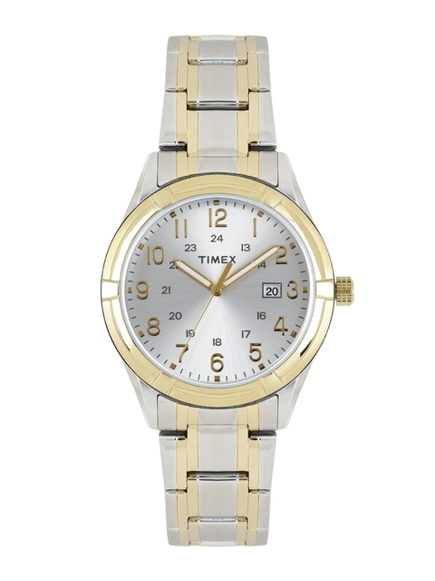 Timex Men Silver-Toned Analogue Watch TW2P76500_GD