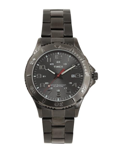 Timex Men Charcoal Grey Analogue Watch T2P390