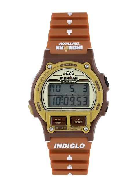 Timex T5K842 Rust Brown Indiglo Ironman Triathlon Digital Unisex Watch