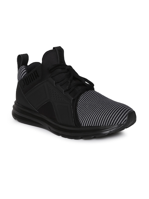 Puma Men Black Enzo Colorshift Running Shoes