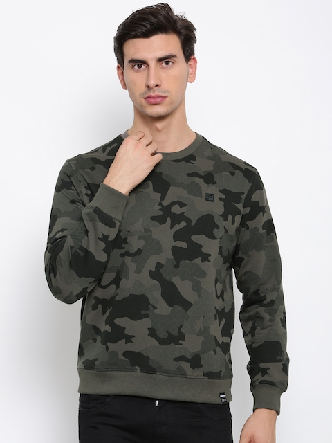 FILA Men Grey & Black Printed THOMPSON Sweatshirt