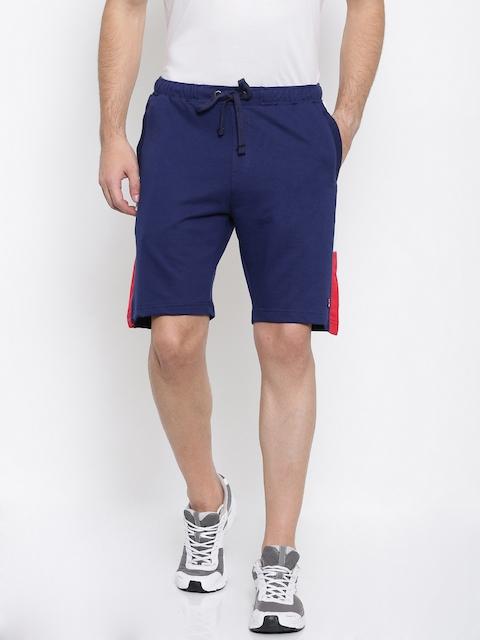 FILA Men Blue Solid Regular Fit Sports Shorts