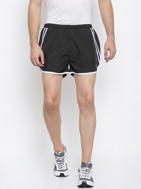 FILA Men Black Solid Regular Fit Sports Shorts