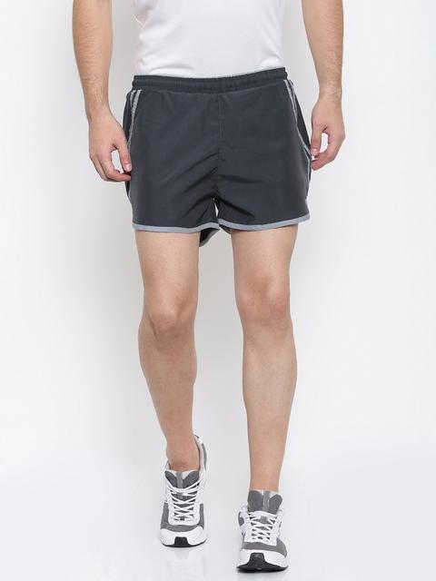 FILA Men Grey Solid Regular Fit Sports Shorts