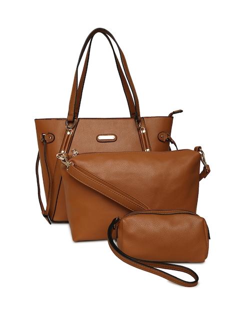 Elle Brown Solid Shoulder Bag