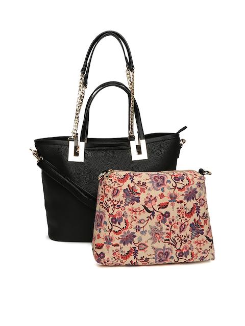 Elle Black Solid Shoulder Bag