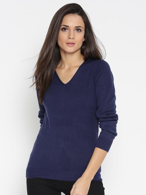 U.S. Polo Assn. Women Women Blue Solid Pullover