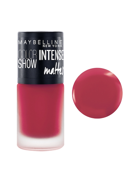 Maybelline New York Fierce Fuchsia Color Show Intense Mattes Nail Paint M107