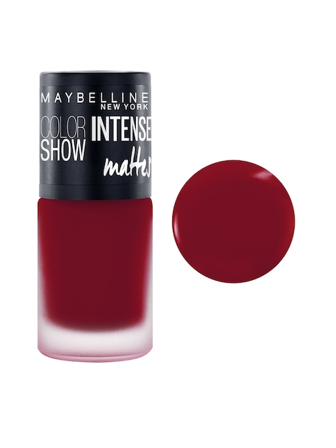 Maybelline New York Color Show Magnetic Maroon Intense Matte Nail Paint M216