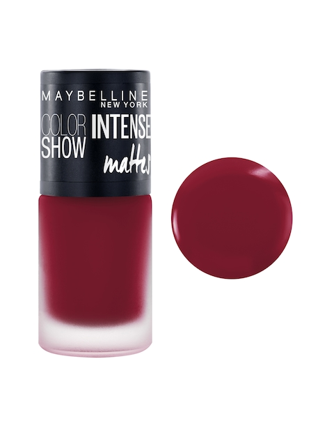 Maybelline New York Color Show Bold Burgundy Intense Matte Nail Paint M406
