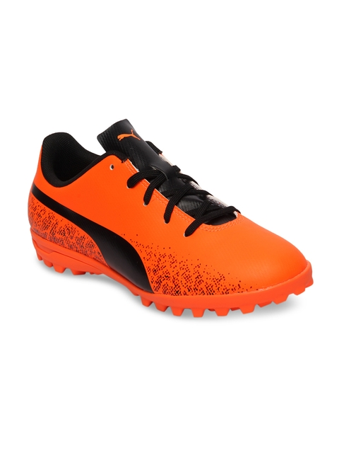Puma Boys Orange & Black Truora TT Jr Football Shoes