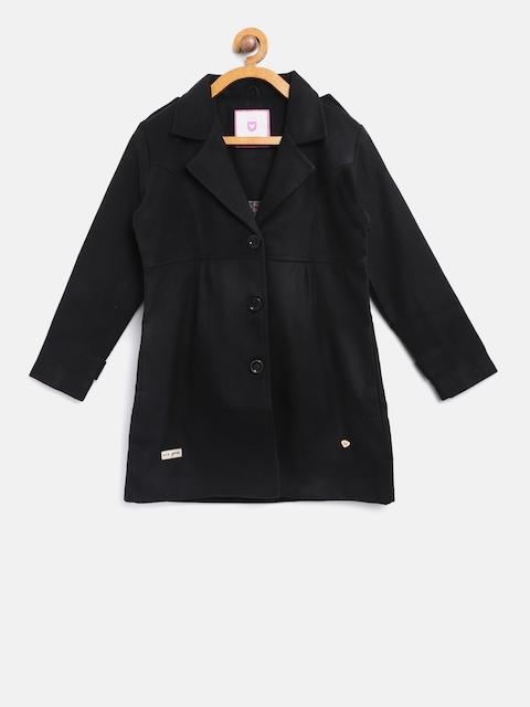 612 league Girls Black Pea Coat