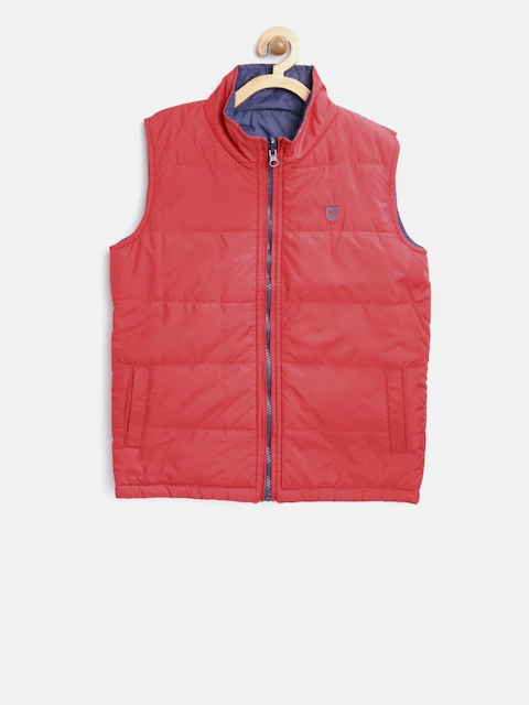 612 league Boys Red & Navy Solid Reversible Padded Jacket