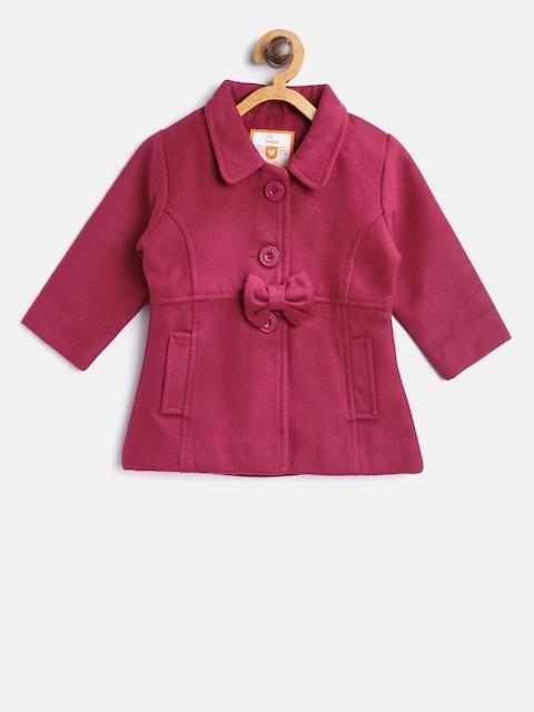 612 league Girls Magenta Pea Coat