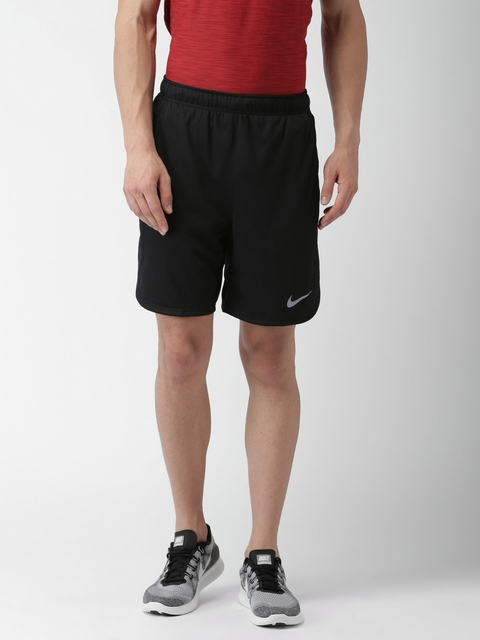 Nike Men Black Solid AS M NK DRY Sports Shorts