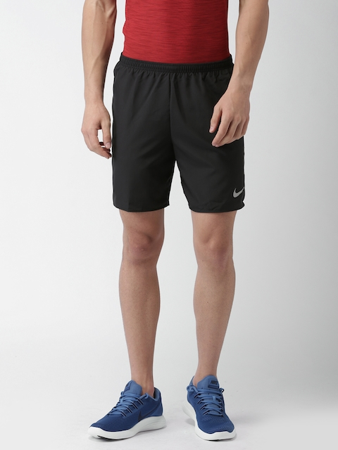 Nike Men Black Solid 7IN CORE Sports Shorts