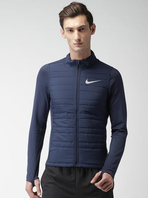 Nike Men Blue Solid AS M NK Sporty Jacket