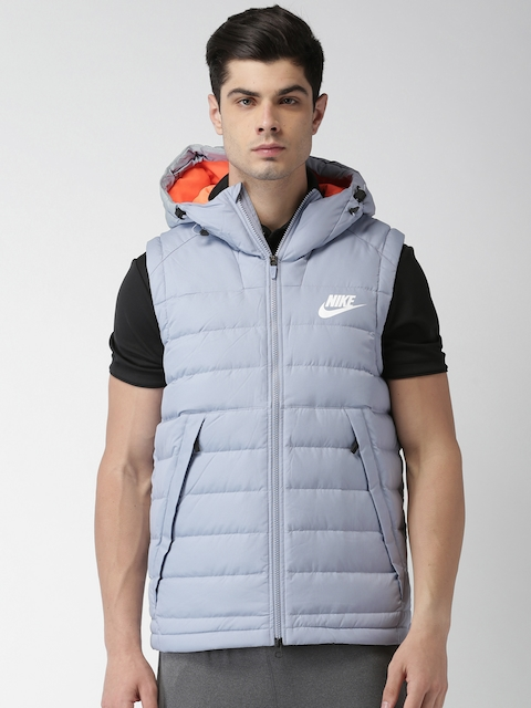 Nike Men Blue AS M NSW DOWN FILL Solid Puffer Jacket