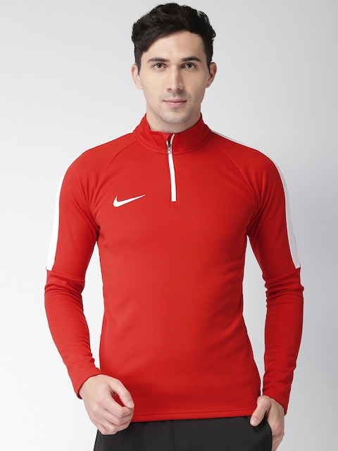 Nike Men Red AS M NK DRY ACDMY DRIL Solid Sweatshirt