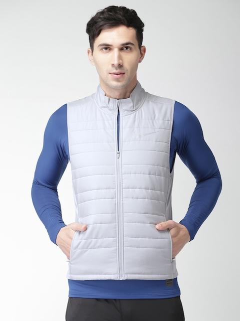 Nike Men Grey Solid Insulator FILLED ESSENTIAL Puffer Jacket