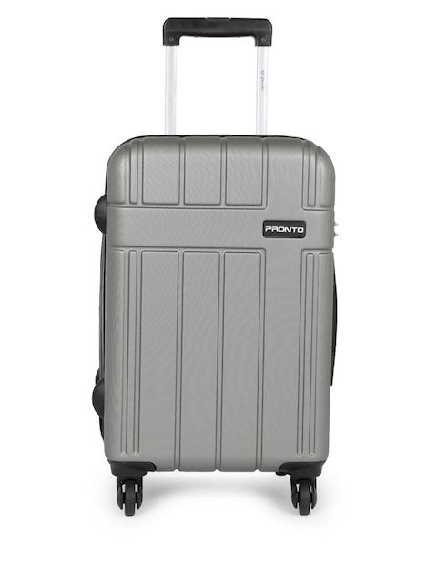 Pronto Unisex Grey BREEZA 4 W Spinner 58 Small Trolley Suitcase