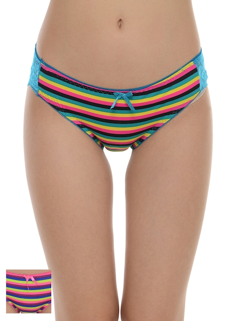 Da Intimo Women Pack of 2 Striped Bikini Briefs DIU-232