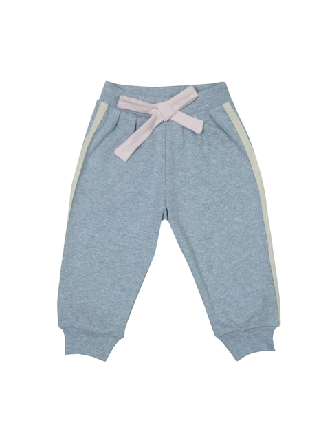 Gini and Jony Girls Grey Regular Fit Solid Joggers