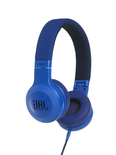 JBL Unisex Blue Wired On-Ear Headphones with Mic E35