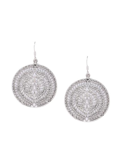 ADORN by Nikita Ladiwala Sterling Sliver Circular Drop Earrings