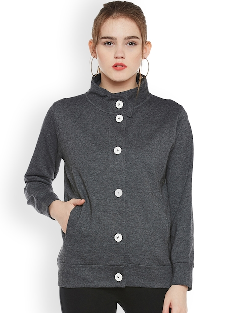 The Vanca Women Grey Solid Tailored Jacket