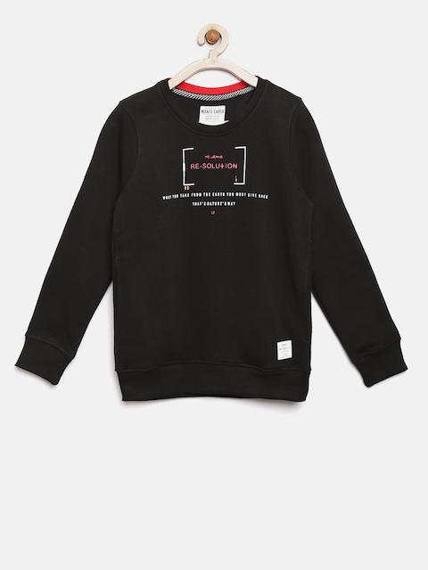 Tweens by Monte Carlo Boys Black Printed Sweatshirt