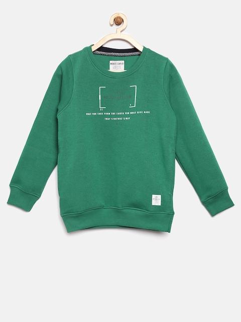 Tweens by Monte Carlo Boys Green Printed Sweatshirt