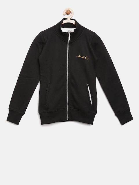 Monte Carlo Girls Black Solid Sweatshirt