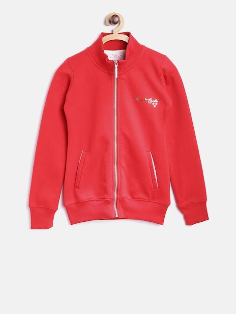 Tweens by Monte Carlo Girls Red Solid Sweatshirt