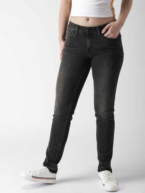 Levis Women Black Skinny Fit Mid-Rise Clean Look Stretchable Jeans Line 8