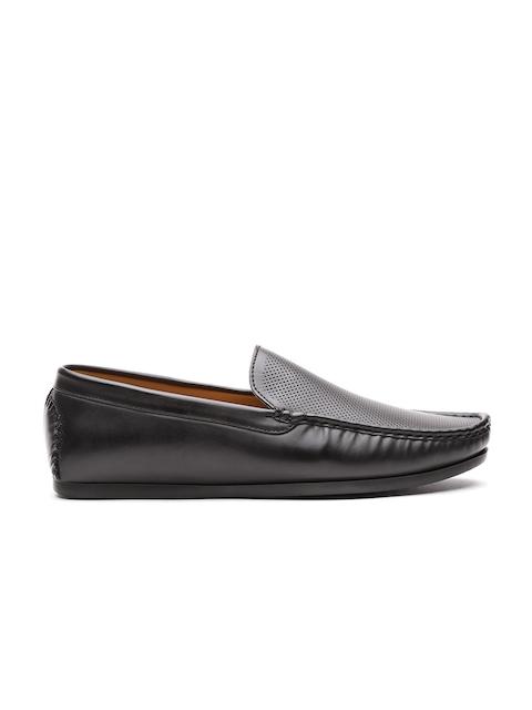 Carlton London Men Black Textured Loafers