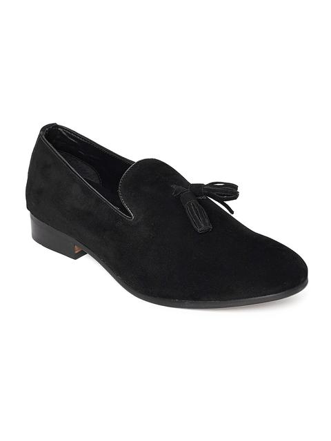 Carlton London Men Black Tassel Loafers