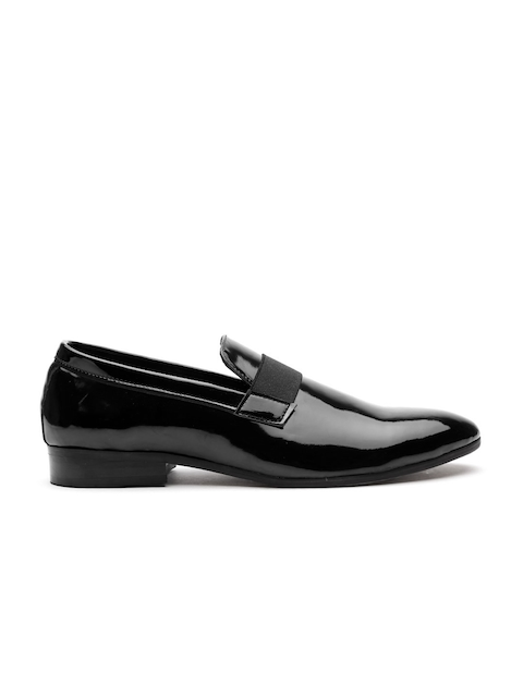 Carlton London Men Black Semiformal Slip-Ons