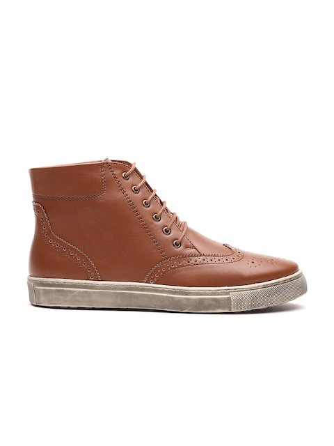 Carlton London Men Tan Brown Sneakers