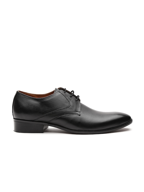 Carlton London Men Black Leather Formal Derbys