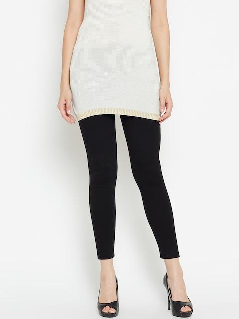 AURELIA Black Ankle-Length Leggings