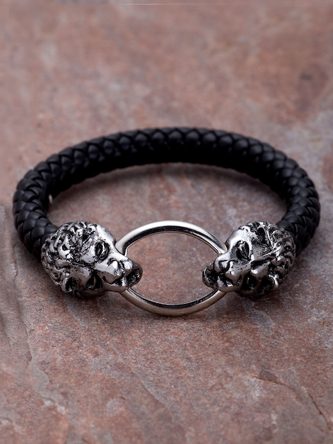 Dare by Voylla Men Black Bracelet
