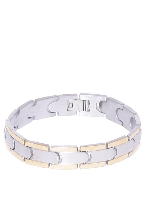 Dare by Voylla Men Silver-Toned & Gold Bracelet