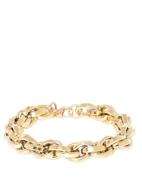 Dare by Voylla Men Gold-Toned Curb Bracelet