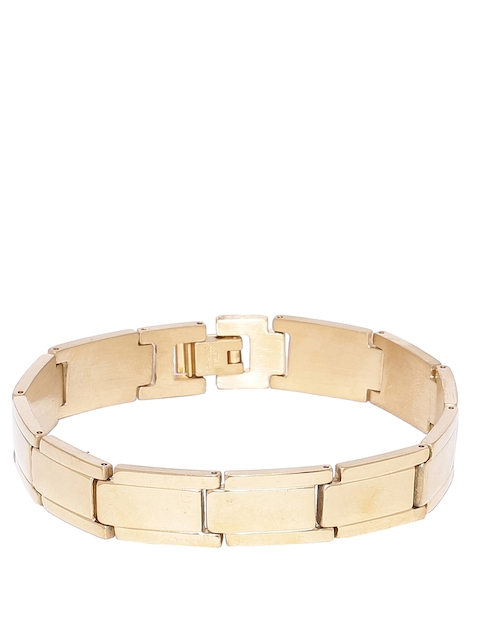 Dare by Voylla Men Gold-Plated Bracelet