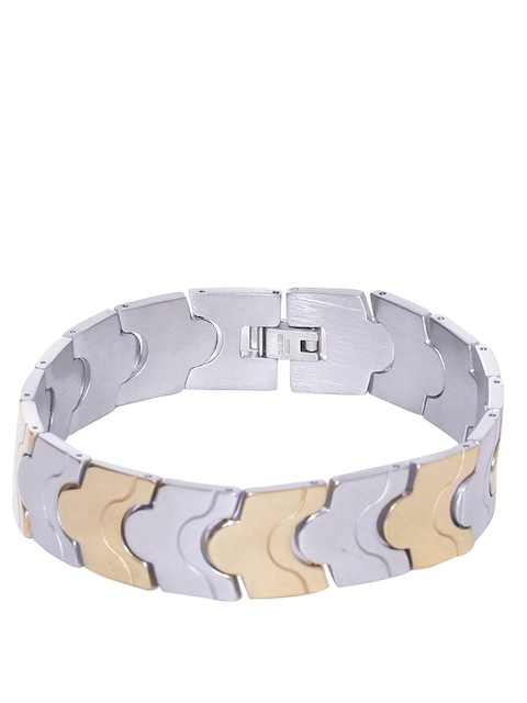 Dare by Voylla Men Gold & Silver-Toned Bracelet