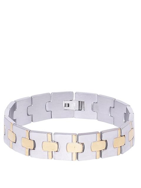 Dare by Voylla Men Silver & Gold-Toned Bracelet