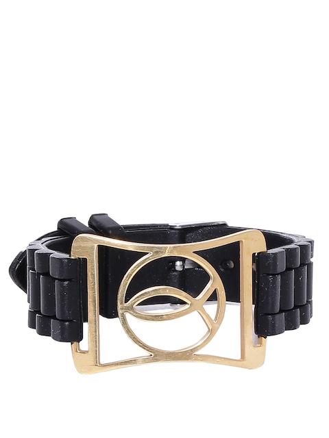 Dare by Voylla Men Black Gold-Plated Bracelet